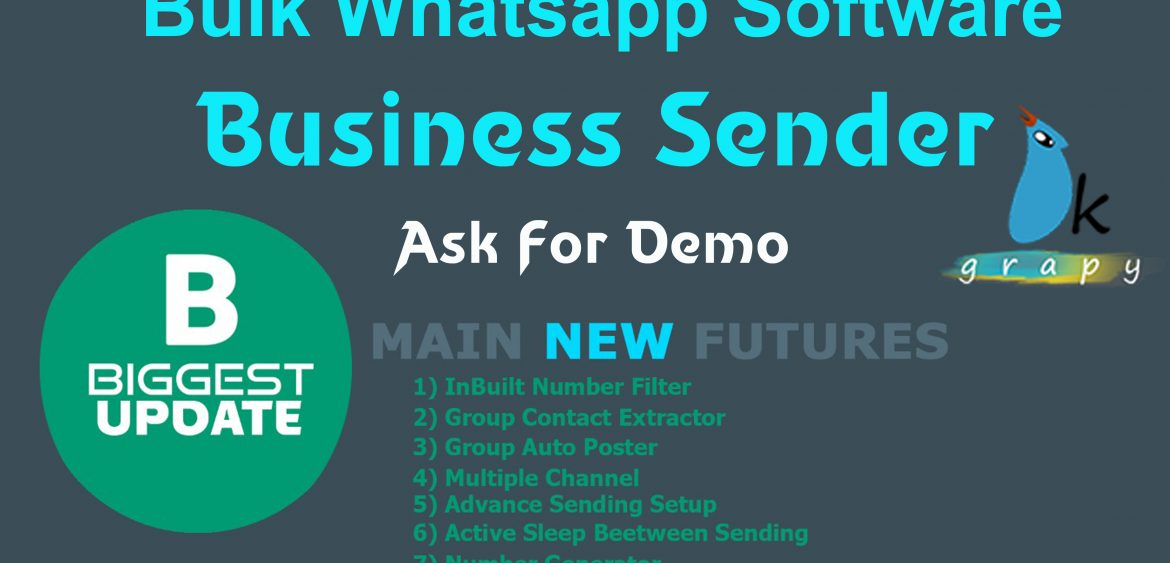 Business Sender bulk whatsapp Software free download | price